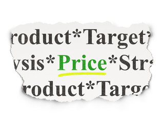 Marketing concept: Price on Paper background