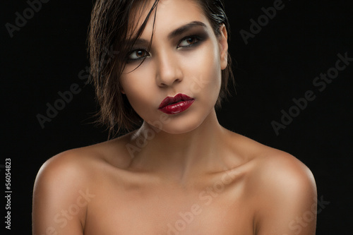 beauty portrait of a young woman.