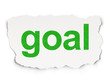 Marketing concept: Goal on Paper background