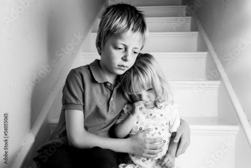 Leinwanddruck Bild Upset children