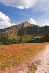 High mountain in Poland. National Park - Tatras.