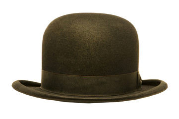 A Black Derby or Bowler Hat