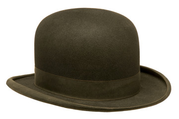 Black bowler or derby hat