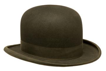 Black bowler or derby hat