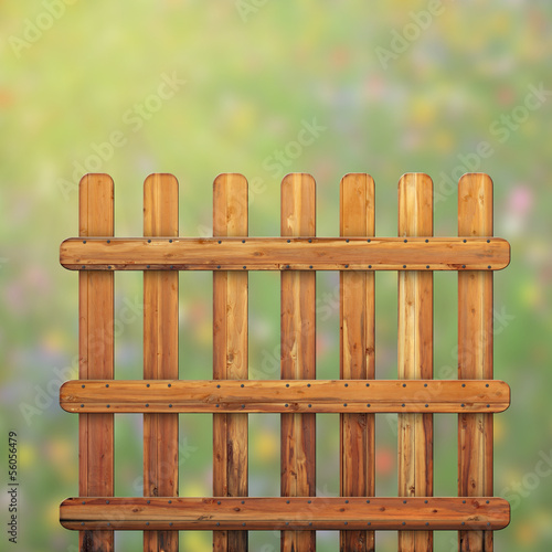 Zaun - Holz - Gr