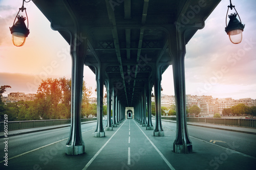 The Pont de Bir-Hakeim bridge