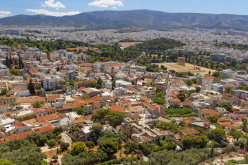 Athens cityscape, north view from Acropolis