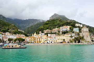 beautiful view of Cetara, Amalfi Coast, Italy