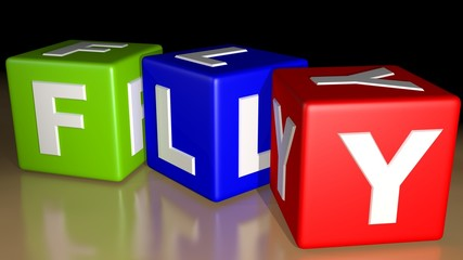 Fly colored cubes