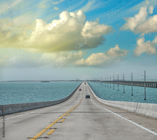 Atlantic intracoastal and highway us1. Florida Keys interstate