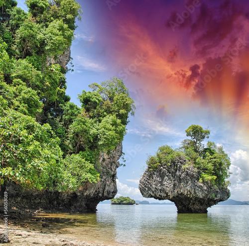 Fototapeten,thailand,natur,tropisch,fels