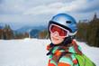 Girl on skis.