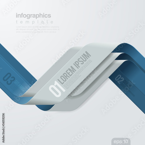 Infographics vector design template. Ribbon creative