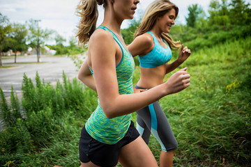 Two Woman Jogging