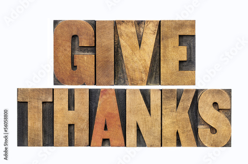 give thanks in wood type