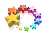 Colorful stars to symbolize the glory poster