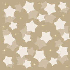 golden yellow stars over blue background vector illustration