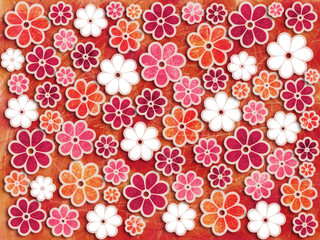 Bold Flower Art Pattern Background Element
