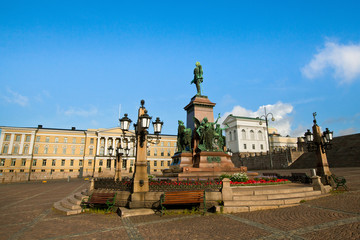 Senate Square in Helsinki, Finland.