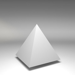 3d illustration basic geometric shapes
