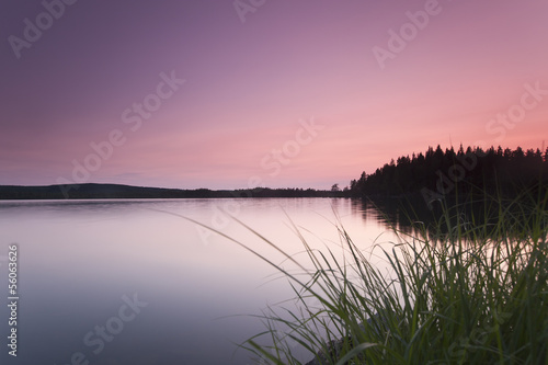 Beautiful summer lake view, dalarna