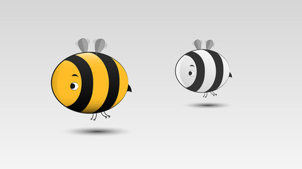 Cartoon Bee in Vector