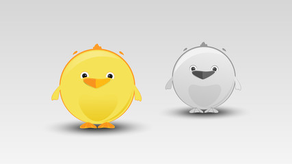 Cartoon Chicken in Vector illustration