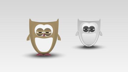 Cartoon Owl in Vector illustration