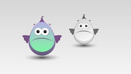 Cartoon Fish in Vector illustration