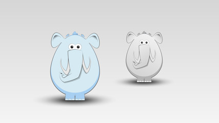 Cartoon Elephant in Vector illustration