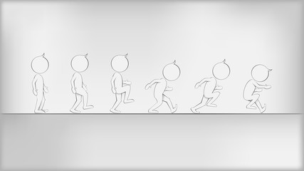 Abstract Humans in Movement. Vector illustration