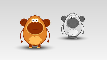 Cartoon Monkey in Vector illustration