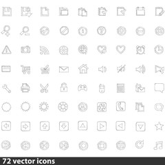 Collection of Web Icons in Vector illustration