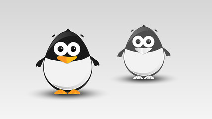 Cartoon Penguin in Vector illustration