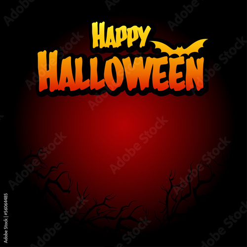 Halloween template background, Vector illustration.