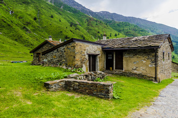 Stone shepherd's house in a peasant village