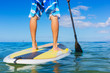 canvas print picture - Man on Stand Up Paddle Board
