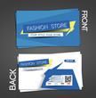 Vector Fashion Store Business Card Set