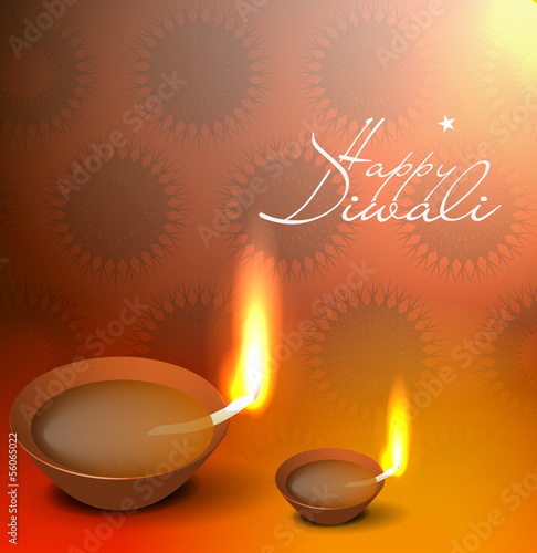 vector 3d diya design for diwali festival.