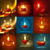 Beautiful happy diwali 9 collection presentation bright colorful