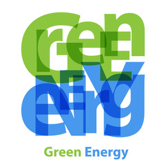 Vector Green Energy. Broken text