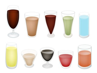 A Set of Refreshing Sweet Drink in Glass