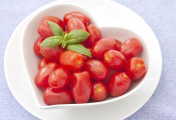 Fresh whole baby plum tomatoes