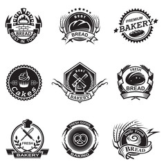 Bakery labels set