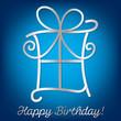 "Bright ""Happy Birthday"" card in vector format."