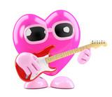 3d Heart plays guitar