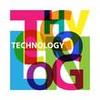 Vector Technology. Broken text