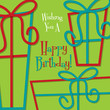 "Bright ""Happy Birthday"" card in vector format."