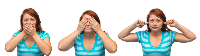 Speak no evil, see no evil and hear no evil