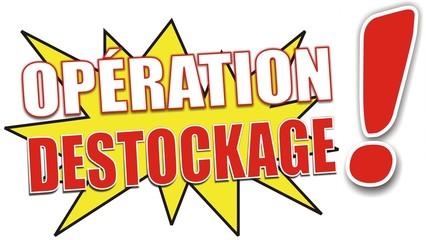 étiquette opération destockage